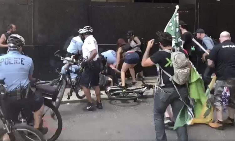 Antifa Fascists Attack Police and Trump Supporters in Philadelphia [VIDEO]