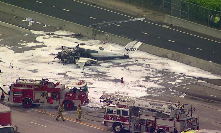 Watch Small Plane Crash On Highway 405 in Santa Ana, Ca [VIDEO]