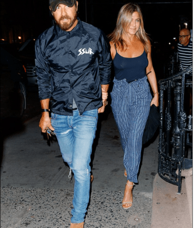 Jennifer Aniston Out on Town With Husband Minus Bra [PHOTOS]