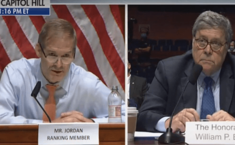 Watch: Rep. Jim Jordan Puts to Rest the Notion that Riots Are 'Peaceful Protests' Once and For All