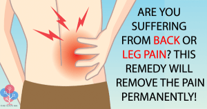 ARE YOU SUFFERING FROM BACK OR LEG PAIN? THIS REMEDY WILL REMOVE THE PAIN PERMANENTLY!