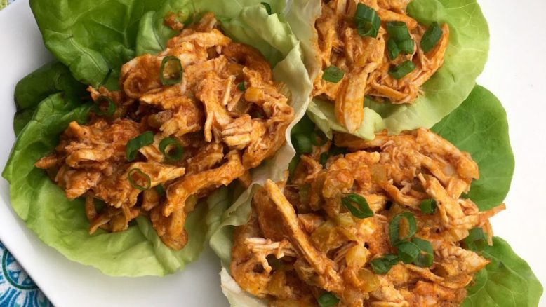 low-carb-buffalo-chicken-lettuce-wraps