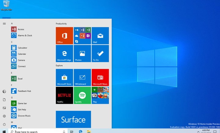 Microsoft Windows 10 Insider Build