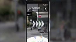 Google AR Map Navigation