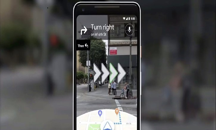 Google AR Map Navigation