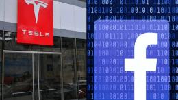 Facebook And Tesla's Shares