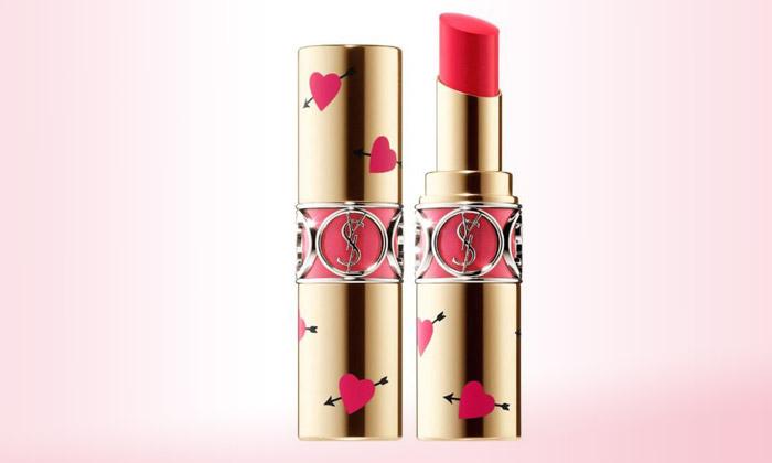 Yves Saint Laurent Heart & Arrow Collector Rouge Volupté Shine Lipstick