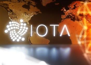 IOTA cryptocurrency technology on dark background