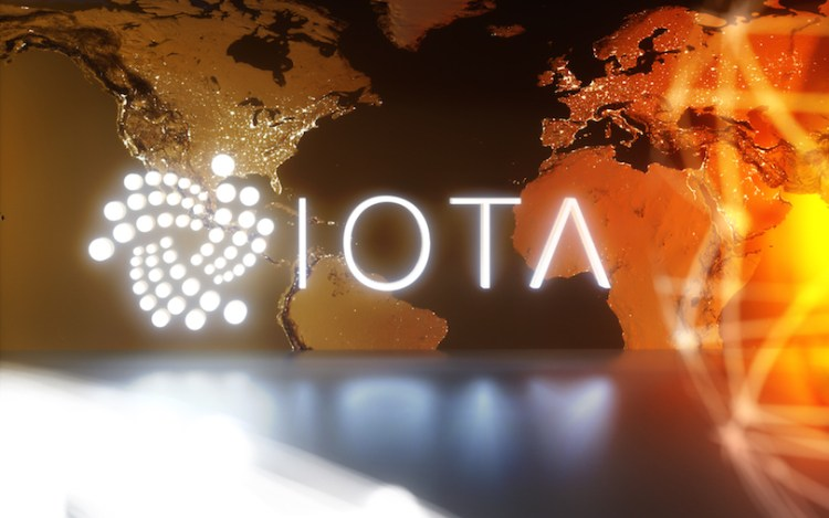 IOTA cryptocurrency technology on dark background