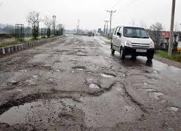 گاندربل کی رابطہ سڑکیں خستہ حالی کی شکار