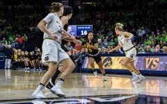 Iowa women's hoops falls to defending national champs Notre Dame