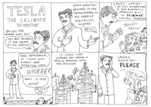 Tesla funny cartton : dailyjag.com