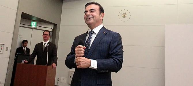 Ghosn smiles - Picture courtesy Bertel Schmitt