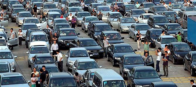 Gridlocked - Picture courtesy telegraph.co.uk,jpg