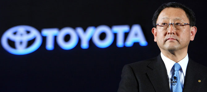 Akio Toyoda - Picture courtesy Bloomberg
