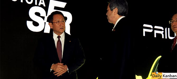 Akio Toyoda TMS 2015 - Picture courtesy Bertel Schmitt