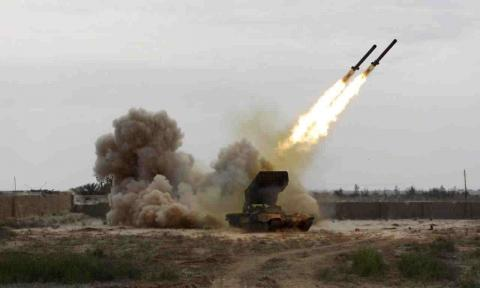 ballistic missile shoot by Houthi Militants