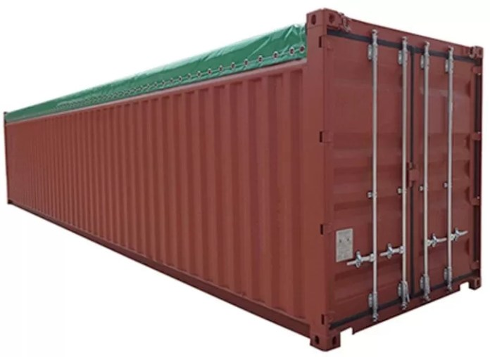Open top container daily logistics