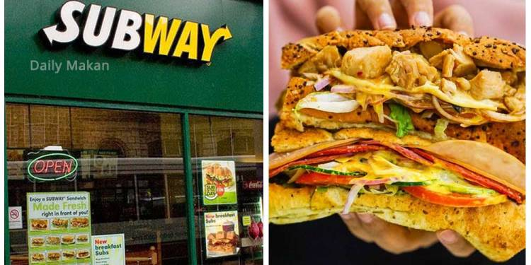 tips order sandwich subway supaya sedap