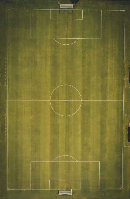 top view photo of soccer field