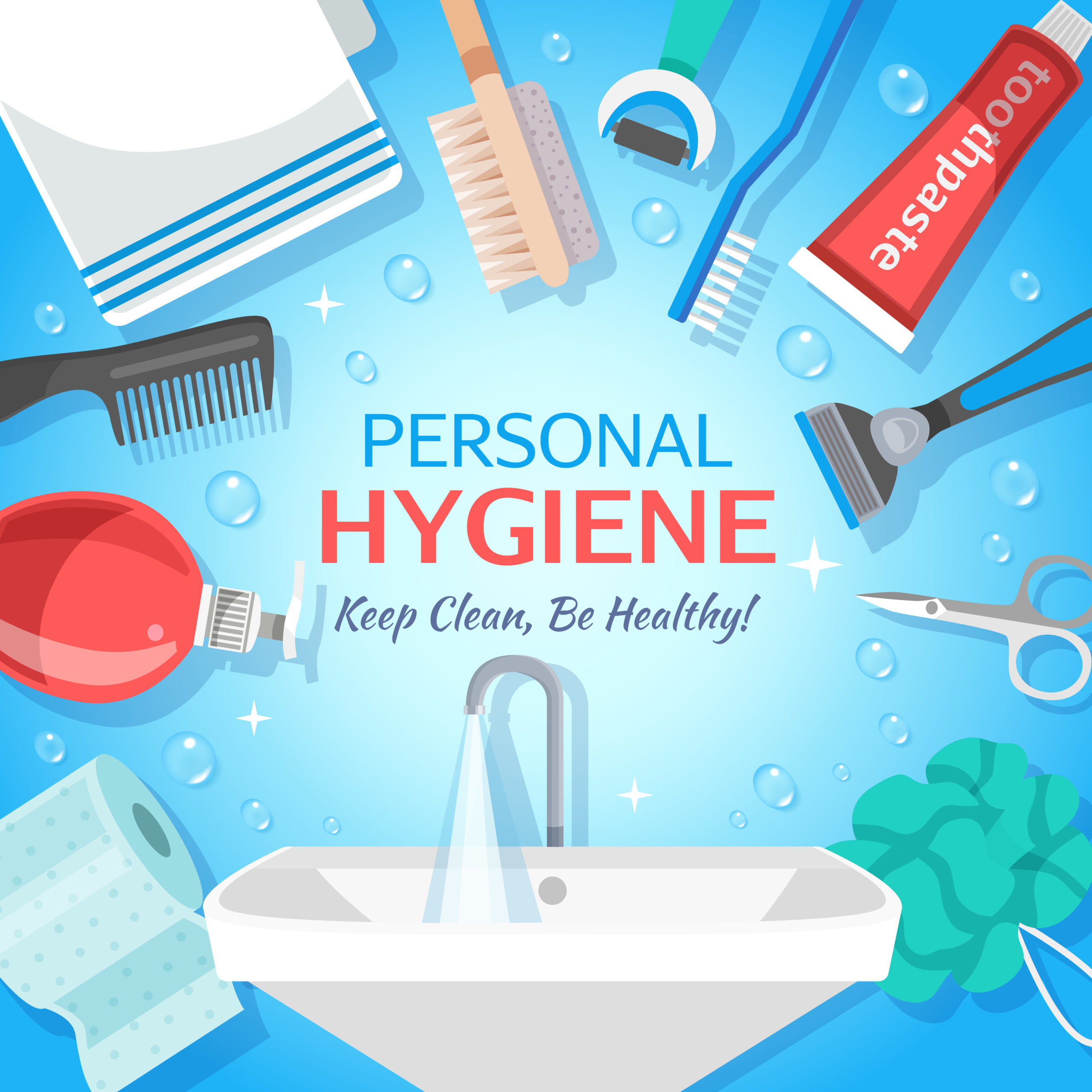 Healthy Personal Hygiene Background