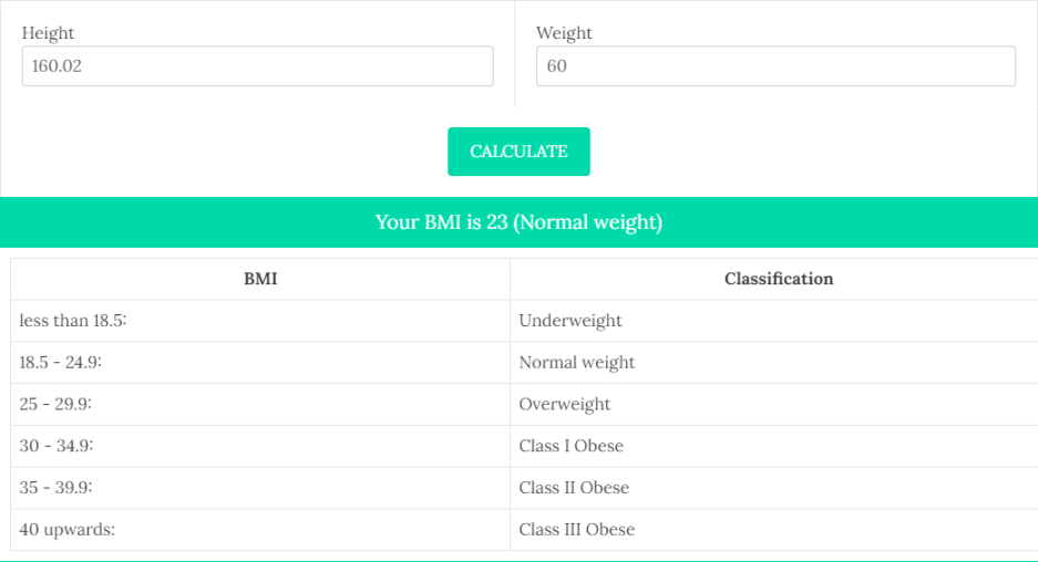 BMI Calculator 6 - Daily Medicos