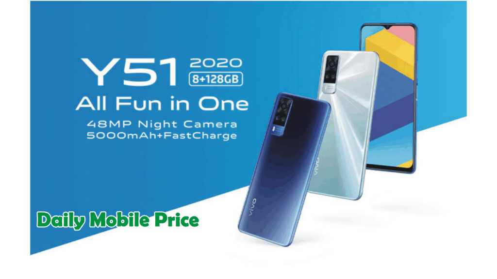 New Vivo Y51 (2020) Launches with a 5000 mAh Fast-Charging Battery and 8GB of Memory