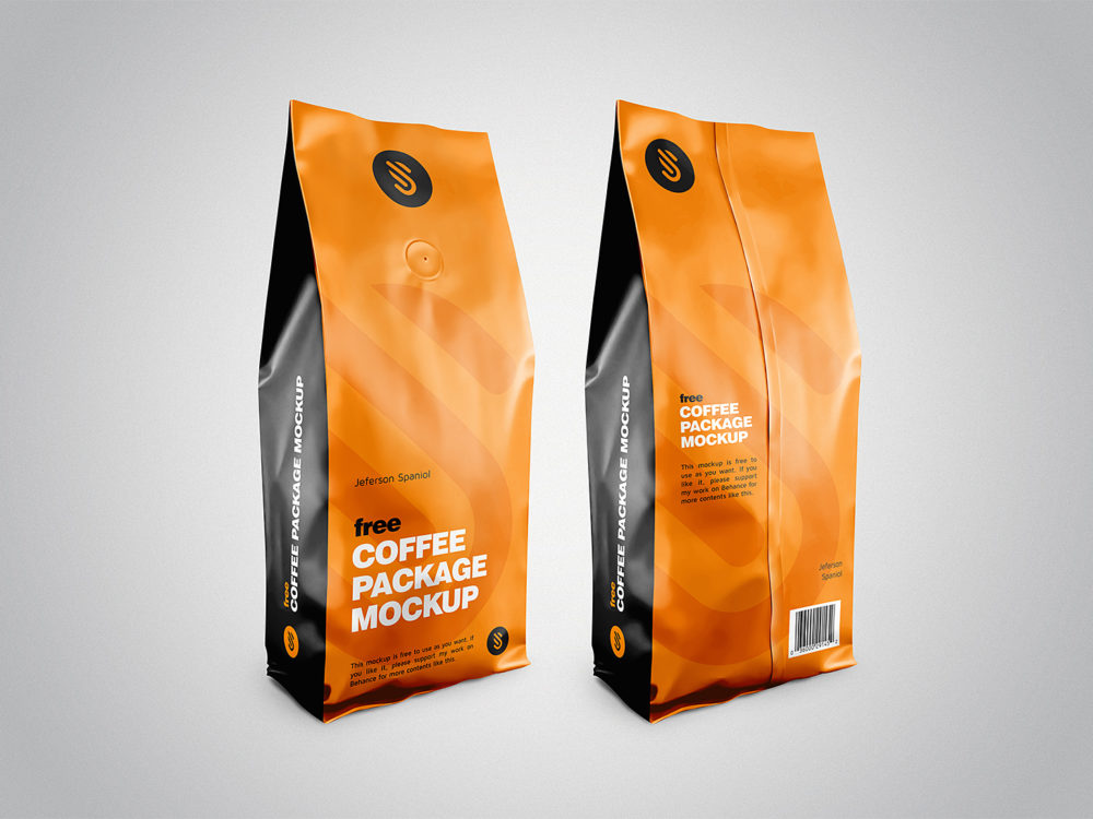 Download Coffee Pouch Package Mockup Free PSD Template 2020 - Daily ...