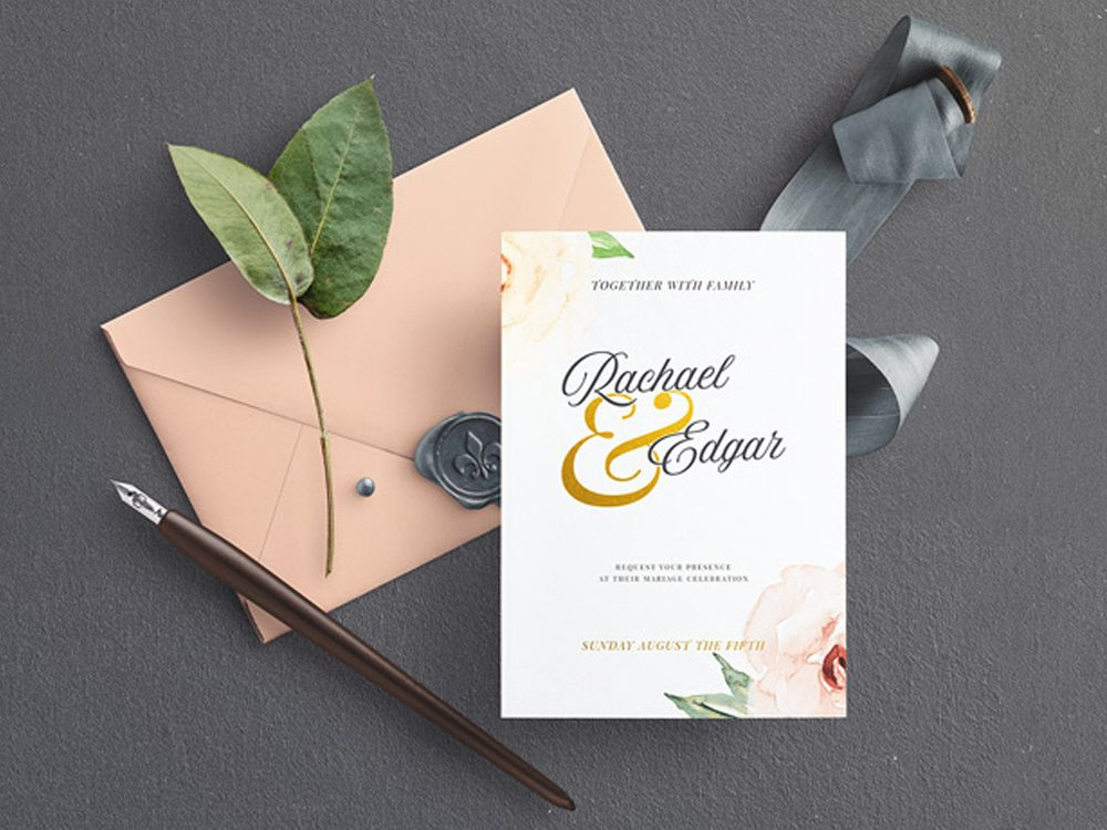 Wedding Invitation Mockup Free Psd Template 2020 Daily Mockup
