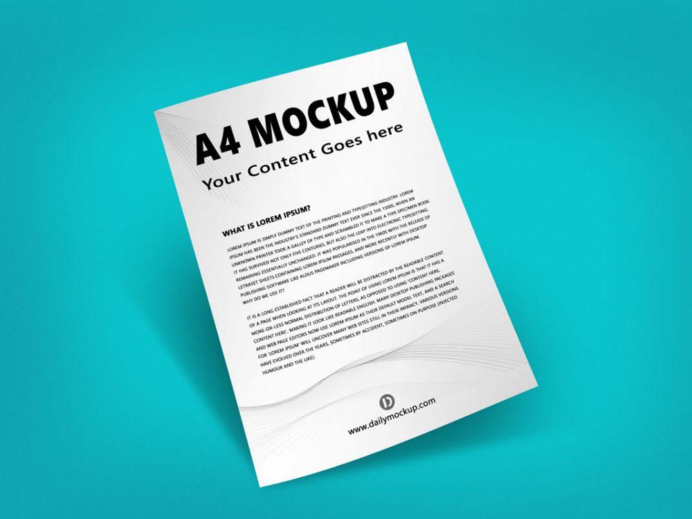 Download A4 Mockup Free Download 2020 2021 - Daily Mockup
