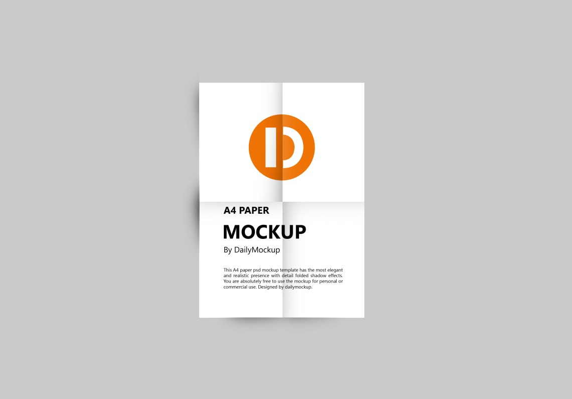 Download Free A4 Mockup PSD Template 2020 - Daily Mockup