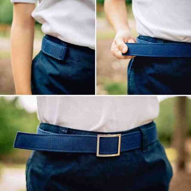 Myself Belts Classic Navy Detail Collage