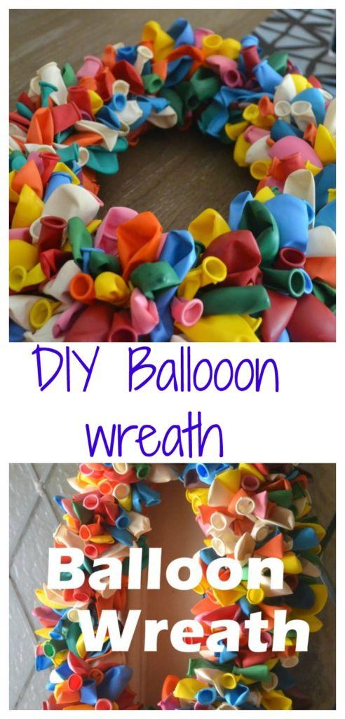 A fun and easy DIY birthday balloon door wreath tutorial https://dailymomtivity.com