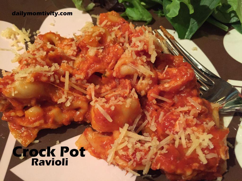 crockpot ravioli meal