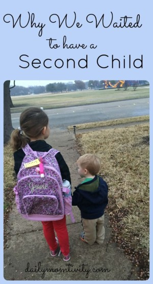 Why We Waited to Add a Second Child