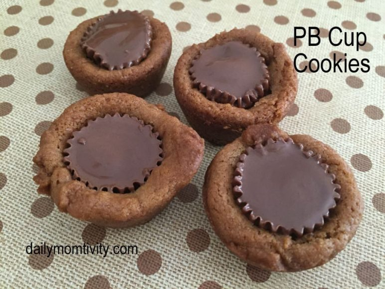 PB cup cookies ready to eat