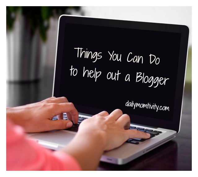 Help out your Blogging friends with these easy ideas #dailymomtivity