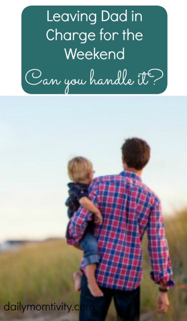 Give yourself a break and let your kids stay at home for the weekend with their dad. Can you handle it? http://dailymomtivity.com