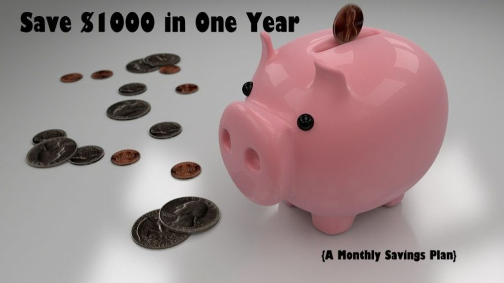 Save $1000, monthly challenge