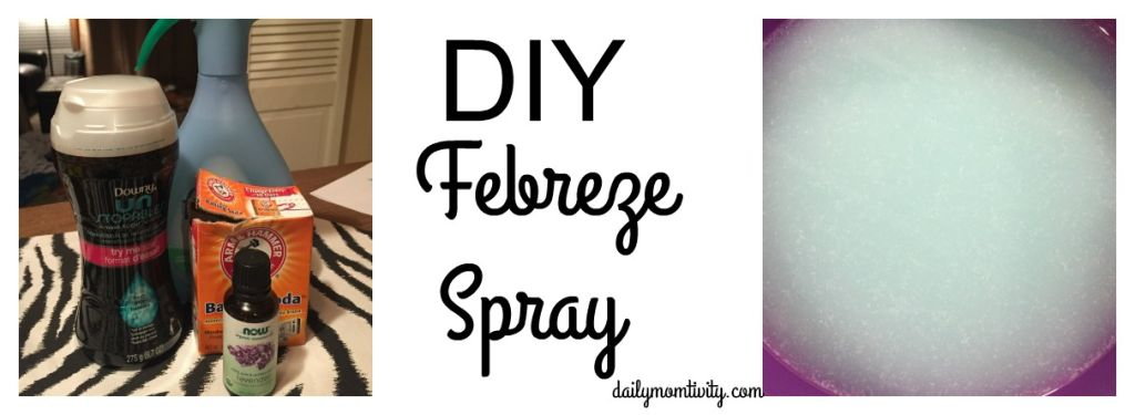 A DIY way to make good smelling and long lasting room spray simiilar to Febreze