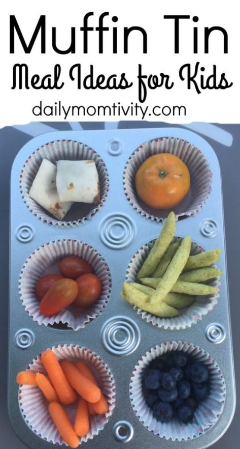 Your kids will love muffin tin meals! Take several little snacks and put them in cupcake liners to make a fun meal https://dailymomtivity.com
