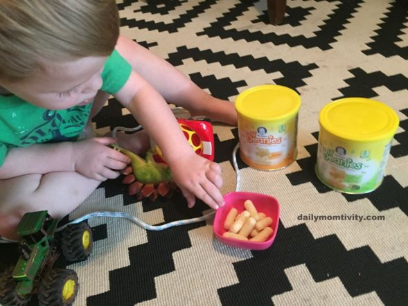 Gerber Snacks while playing