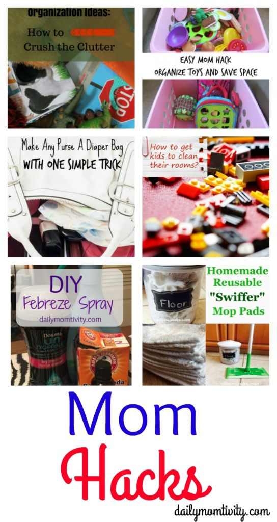 Awesome tips and tricks for Moms. Making life easier for any Mom! http://dailymomtivity.com