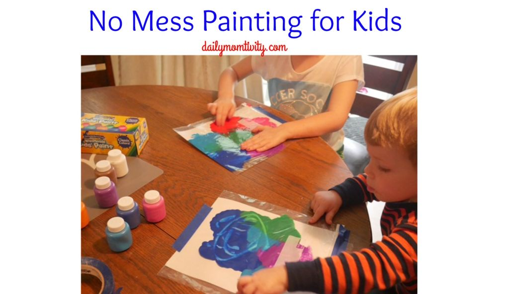 No Mess painting for kids is fun and easy for parents to put together!