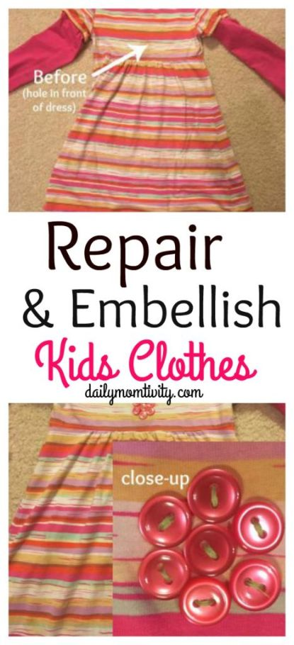 Are your kids coming home with holes in their pants constantly? Don't toss them, fix them up with simple iron on patches! All about embellishing your kids clothes for cheap! https://dailymomtivity.com