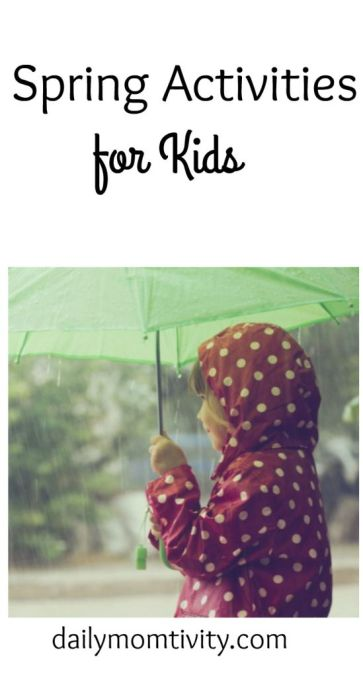 Fun activities for Kids when it's raining or pretty outside