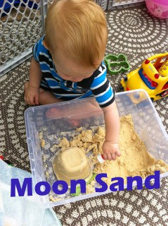 Moon sand is such a fun activity, Simple ingrediants to make and lots of fun will be had!