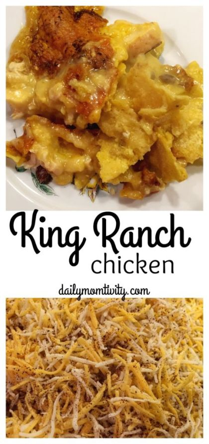 King Ranch chicken is super yummy and perfect for the whole family. A great meal to freeze or take to a friend in need! https://dailymomtivity.com