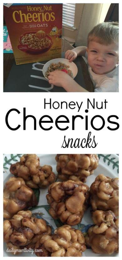 2 kid friendly snack ideas with Honey Nut cherrios! #HoneyNutCheerios #NuestroCereal #ad