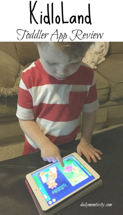A fun toddler app called Kidloland that is filled with songs, games and fun for ages 1-5! https://dailymomtivity.com
